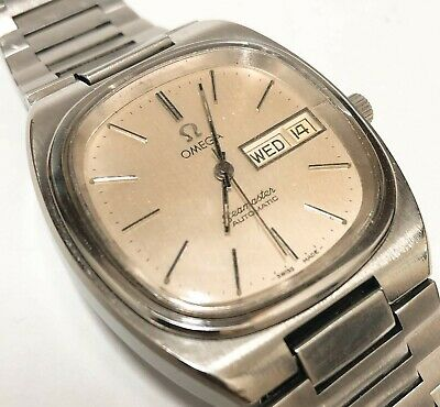 Vintage Omega Seamaster Automatic Day Date Silver White Dial 1020 Cal Mens Watch