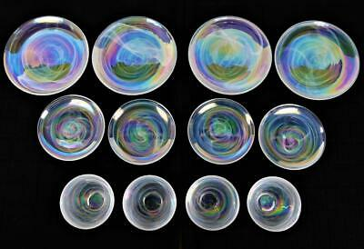 12 New Artistic Accents Pearl Opal Iridescent Dinner Salad Plates Cereal Bowls