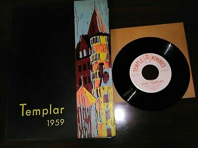 RARE! 1952 THE TEMPLAR Temple University Yearbook Philadelphia PA With 45 Record