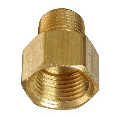 "1/2"" Female to 3/8"" Male NPT Brass Pipe Fitting Adapter Screw Connector Durable"