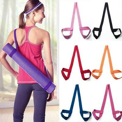 Adjustable Yoga Mat Sling Carrier Shoulder Strap Belt Gym Sport Exercise Fi D8F7
