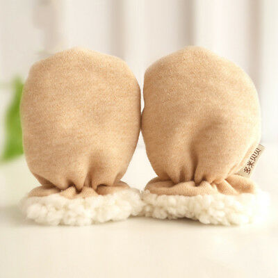 Fj- Infant Baby Winter Thicken Cotton Warm Anti Scratch Gloves Newborn Mittens N