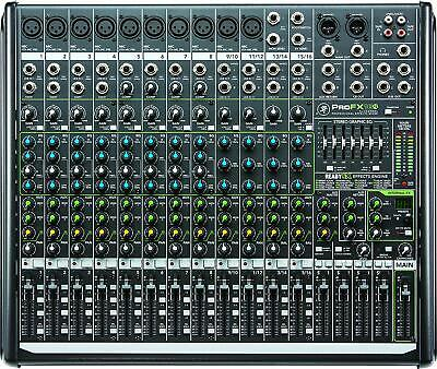 Mackie PROFX16V2 16-Channel 4-Bus Compact Mixer with USB+Effects ProFx 16 v2