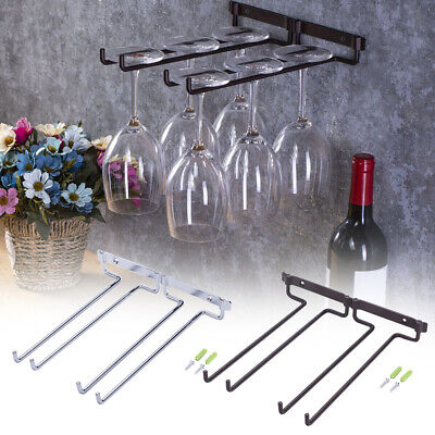 Wine Rack Holder Hanging Rack Glass Cup Stemware Shelf Mounted Display Stand AU