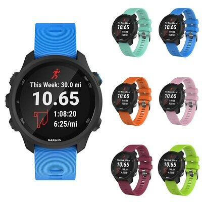 Silicone Replacement Bracelet Wrist Watch Band Strap For Garmin Forerunner 245