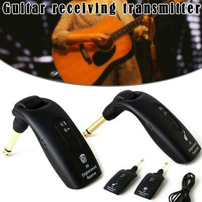 2.4GHz Wireless Guitar System Transmitter A9 Receiver USB Rechargeable Battery