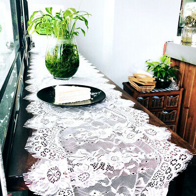 Lace Table Runners Tablecloth Cover Chair Sashes Wedding Party Decorations UK
