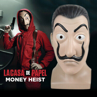 Salvador Dali Money Heist The House of Paper La Casa De Papel Costume Face Mask