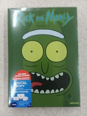 Rick and Morty: The Complete Third Season DVD + Digital Brand New