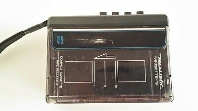 Realistic Minisette 19 Compact Cassette Tape Recorder. Fully working.