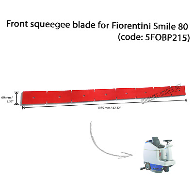 Front squeegee blade for Fiorentini Smile 80 FREE SHIPPING! (code: 5FOBP215)