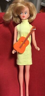 Vintage Tressy Doll With Guitar