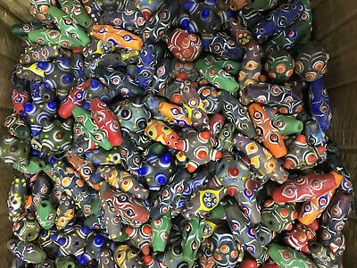 200PCS mix Ancient China Peking Glass Necklaces Coloured Carved beads pendant