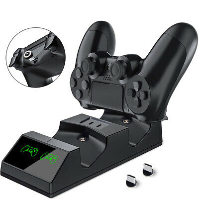 For PS4 Dual Controller Fast Charger Charging Dock Station DC 5V Gamepad Holder