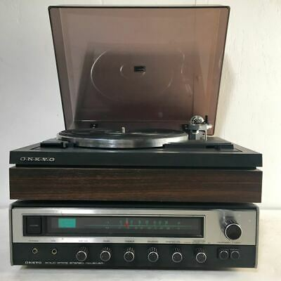 Vintage Onkyo Hi Fi Stereo System - Amplifier & Turntable - High Quality - Japan