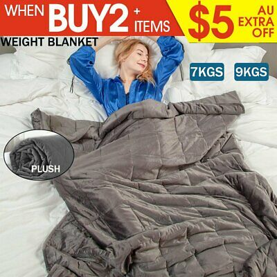7/ 9KG Ultra Plush Weighted Blanket Deep Relax Calming Sleeping for Adults