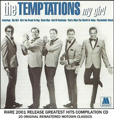 The Temptations Very Best 20 Greatest Hits Collection - RARE Motown 60's 70's CD