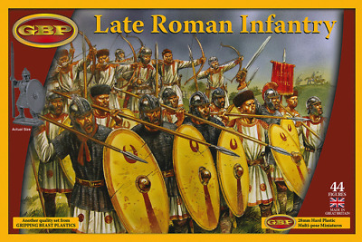 Gripping Beast Late Roman Infantry New   Two Sprues   10 Miniatures   GBP