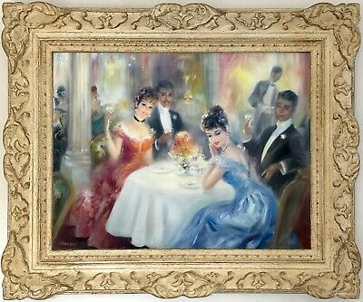 The Toast Original Oil Painting by John Strevens (British, 1902-1990)