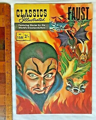 Vintage Classics Illustrated Comic 158 Faust Painted Cover Uk & Aussie Only Exc!
