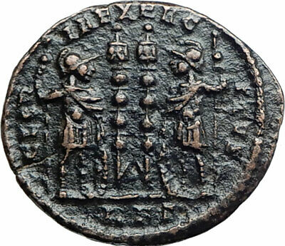 CONSTANTIUS II son of  Constantine the Great  Ancient Roman Coin Standard i80196