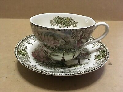 "Johnson Bros ""the Friendly Village"" The Well / Large Cup & Saucer"