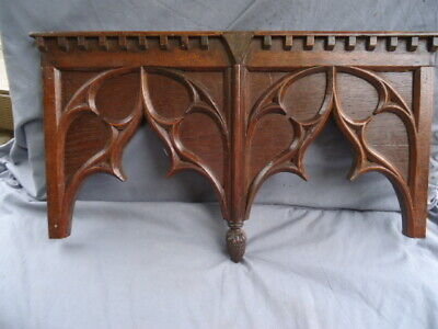 18Th Century Oak Carved Gothic Blind Tracery Panel
