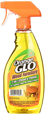 Orange Glo Wood Furniture 2 in 1 Clean , Polish Spray Bottle 473 millilitre with