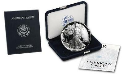 1994-P Proof American Silver Eagle One Dollar Coin complete box & COA