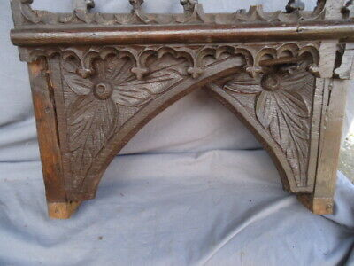 Two  Rare 17Th  Century And Later Carved Oak Gothic Brackets