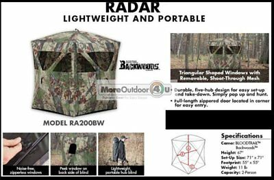 Ra200Bw New With Defect Barronett Blinds Radar Hunting Hub Blind