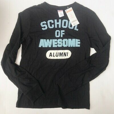 Gymboree Boys Long Sleeve T-shirt School of Awesome 6 Years Old