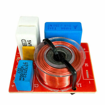 80W 2 Way Hi-Fi Speaker Frequency Divider Crossover Filters with Junction Box TW