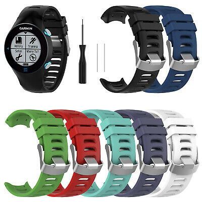 Silicone Wristband Sports Watch Strap With Tool For Garmin Forerunner 610