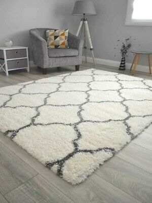 Cream Off White Dk Grey Small Extra Large Teddy Soft Thick Shaggy Mat Rug Cheap