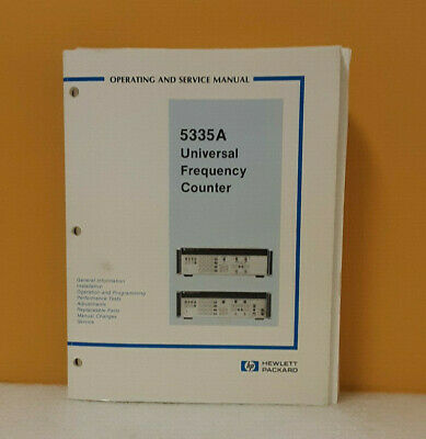 HP 05335-90021 5335A Universal Frequency Counter Operating and Service Manual