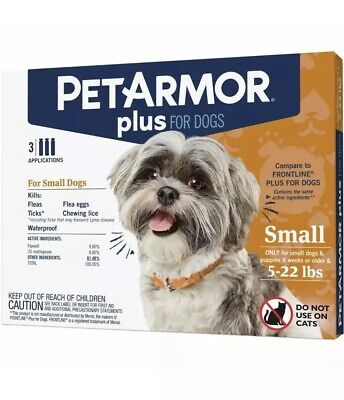 PetArmor Plus for Dogs Flea and Tick Prevention for Small Dogs (5-22 Pounds)