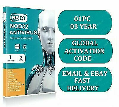 Eset Nod32 Antivirus V12 2019 - 3 Years / 1 PC Key Global  For Windows or Mac