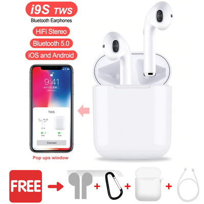 2019 Dual Wireless Bluetooth Earphone Earbuds For Android IOS Universal Phones