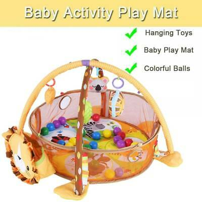 3 in 1 Soft Baby Kids Play Mat Large Activity Playmat Musical Gym With Play Ball