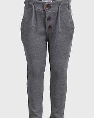 Girls Grey Knit High Waist Trousers Pants Bottoms With Button sizes 2 3 years