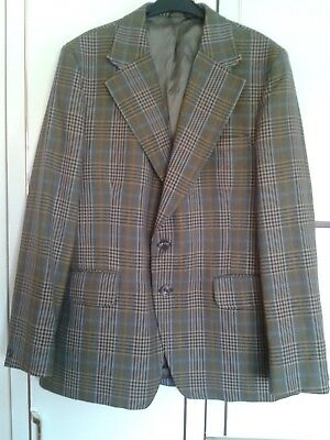 "Hardy Amies/Hepworths Golden Talisman Jacket : Pure New Wool : 21"" across chest"