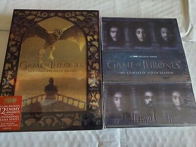 Game of Thrones Seasons  5 and 6 DVD New Sealed Free Shipping!