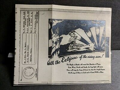 Battleship USS WISCONSIN BB-64 Naval Cover 1944 Censored WWI ILLUSTRATED V-MAIL