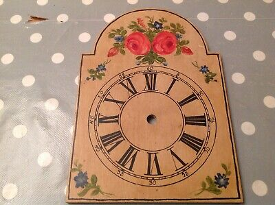Antique Wall Clock Dial Face Painted To Restore 21x15cm