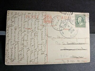 1909 USS WABASH Screw Frigate Naval Cover CACTUS FRUIT to USS WISCONSIN