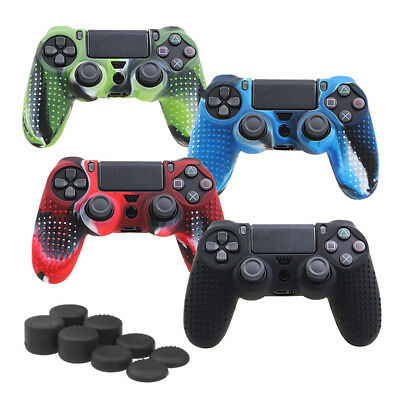Camouflage Silicone Rubber Skin Grip Cover Case for PlayStation4 PS4Controller S