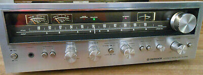 Nice Vintage Rare Pioneer Sx-690 Am Fm Stereo Silver Face Receiver Amp Working.