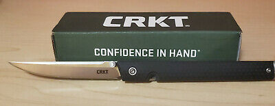 CRKT Knives CEO Black Satin Knife New in box and FAST SHIP!