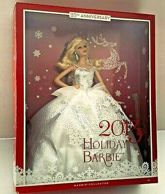 Holiday 2013 Barbie Doll 25th Anniversary Silver Blonde NRFB